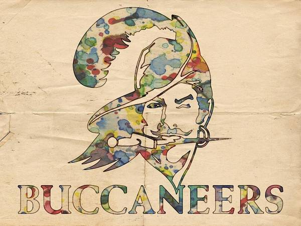 Painting - Tampa Bay Buccaneers Old Logo by Florian Rodarte