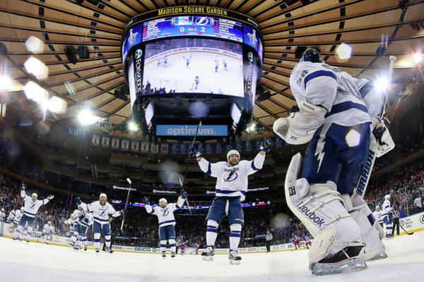 Madison Square Garden Photograph - Tampa Bay Lightning V New York Rangers by Elsa