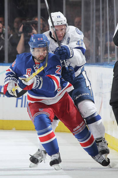 Nhl Players Photograph - Tampa Bay Lightning V New York Rangers by Jared Silber
