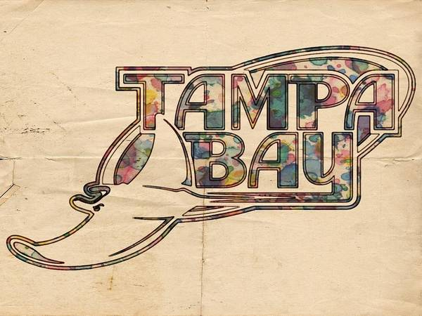 Painting - Tampa Bay Rays Poster Art by Florian Rodarte
