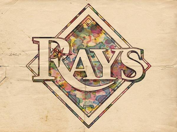 Painting - Tampa Bay Rays Vintage Art by Florian Rodarte