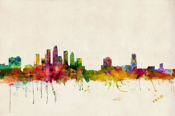 Tampa Florida Skyline Art Print