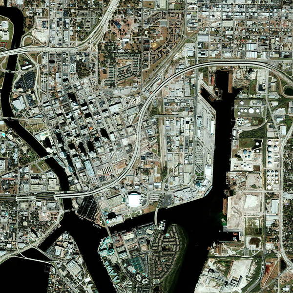 Wall Art - Photograph - Tampa by Geoeye/science Photo Library