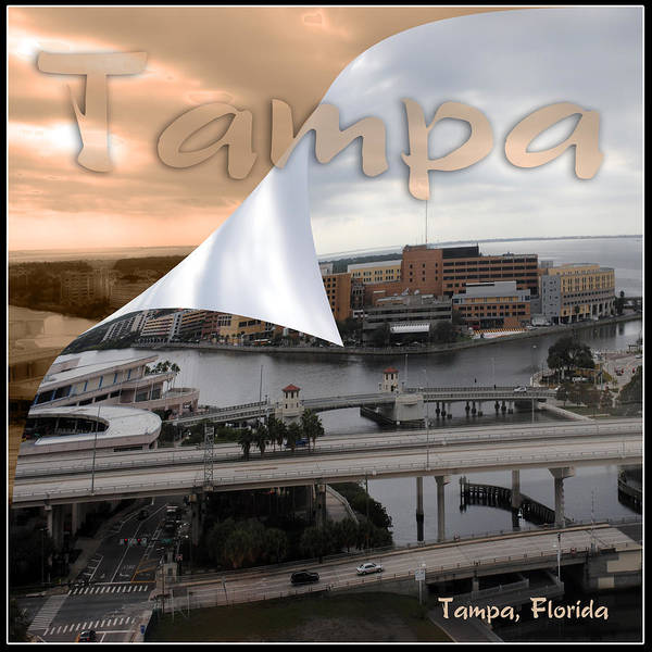 Photograph - Tampa On The River by Steve Sperry
