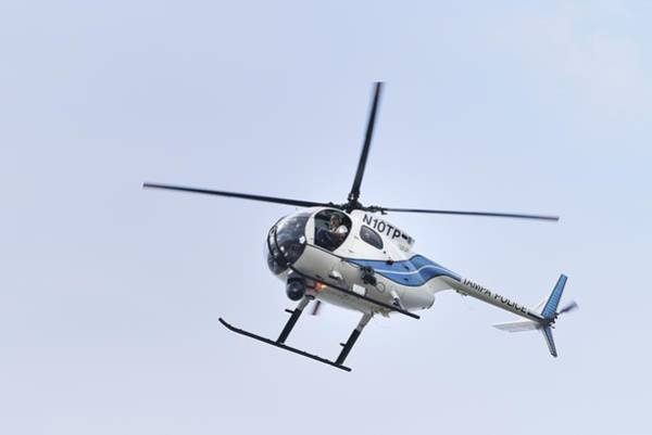 Photograph - Tampa Police Helicopter-oh-6 by Bradford Martin