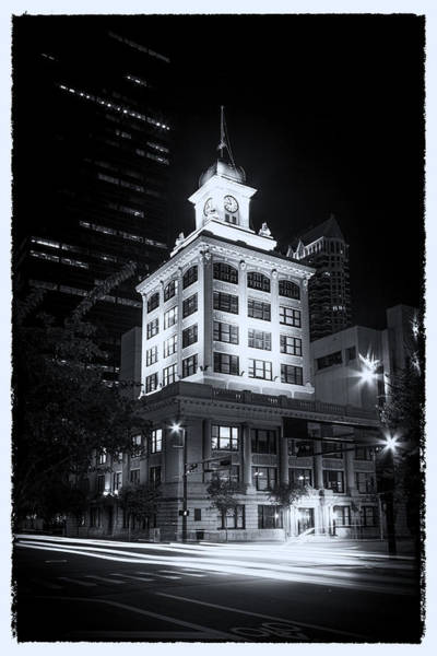 Clock Tower Photograph - Tampa's Old City Hall by Marvin Spates
