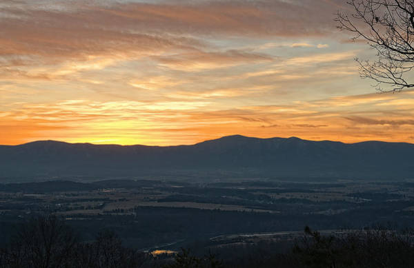 Photograph - Tangerine Blue Ridge Skies by Lara Ellis