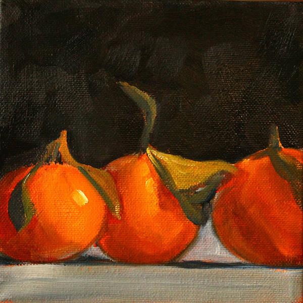 Wall Art - Painting - Tangerine Party by Nancy Merkle