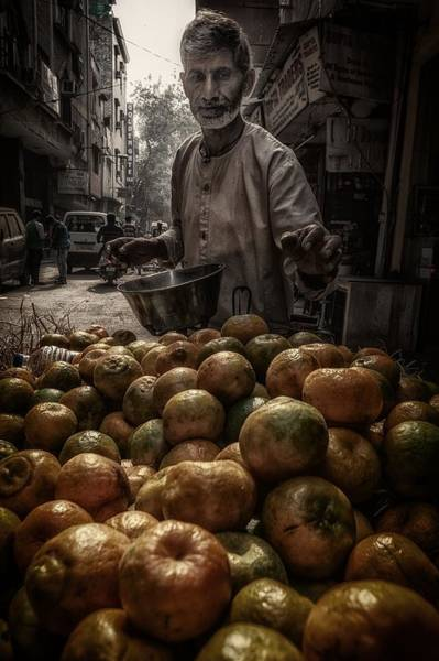 Shop Photograph - Tangerines From Paharganj by Pavol Stranak