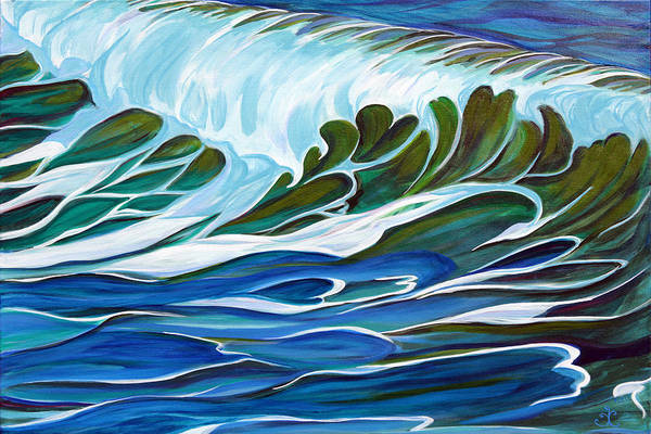 Painting - Tangled Up In Blue by Trina Teele