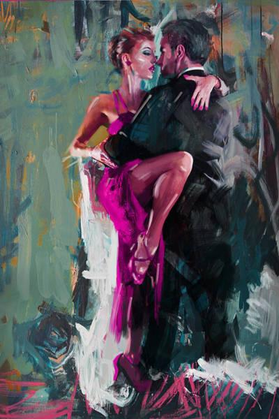 Dance Painting - Tango 6 by Mahnoor Shah