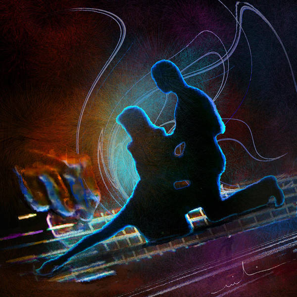 Painting - Tangoscape 04 by Miki De Goodaboom