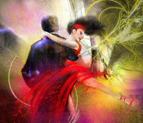 Painting - Tangoscape 05 by Miki De Goodaboom
