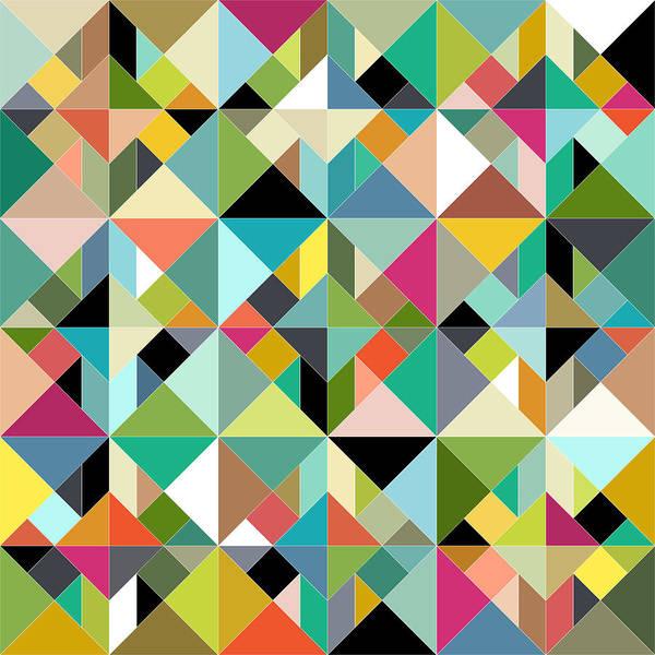 Wall Art - Painting - Tangram Geo Multi by MGL Meiklejohn Graphics Licensing