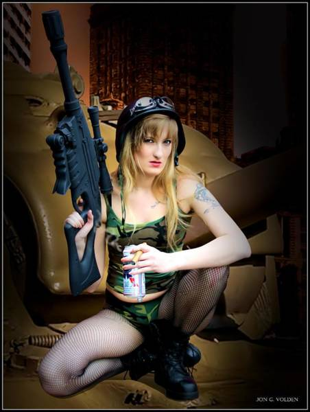 Photograph - Tank Girl A Time To Relax by Jon Volden