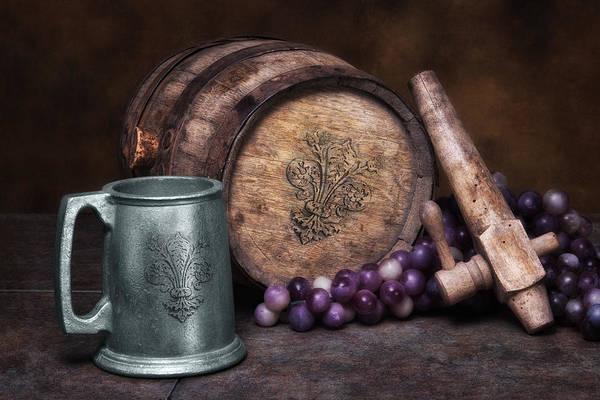 Vintage Wine Photograph - Tankard Of Drink Still Life by Tom Mc Nemar