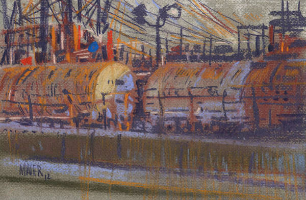 Trains Painting - Tanker Fill Point by Donald Maier