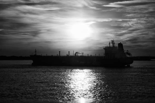 Tanker Twilight Art Print
