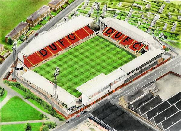 Wall Art - Painting - Tannadice Park - Dundee United Fc by Brian Casey