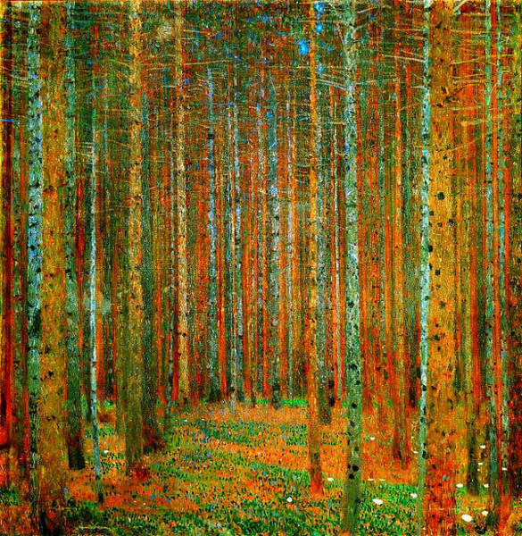 Painting - Tannenwald - Pine Forest by Celestial Images
