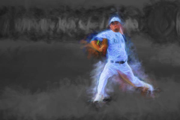 College Baseball Photograph - Tanner Tully Elkhart Central Blazers Pitches The Winning Game Champs 2013 by David Haskett II