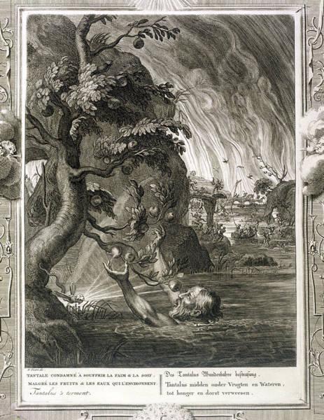 Wetland Drawing - Tantalus Torment, 1731 by Bernard Picart