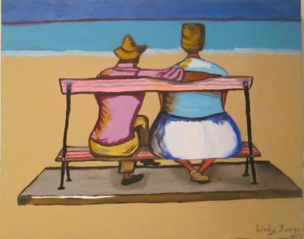 Painting - Tanti And Slim By The Beach by Jennylynd James