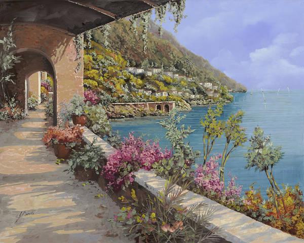 Lake Painting - Tanti Fiori Sulla Terrazza by Guido Borelli