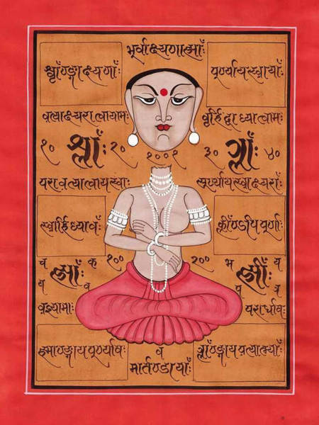 Wall Art - Painting - Tantra Yantra Vedic Miniature Painting Hindu Artwork Art Gallery  by A K Mundhra