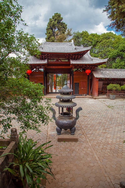 Wall Art - Photograph - Taoist Temple Courtyard by W Chris Fooshee
