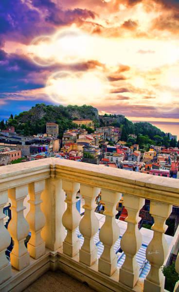 Houses Wall Art - Photograph - Taormina Balcony - Sicily by Madeline Ellis