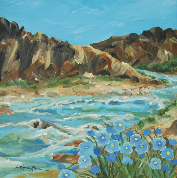 Painting - Taos Box Canyon by Linda Rauch