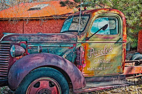 Photograph - Taos Chevy by Charles Muhle