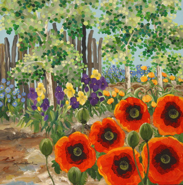 Painting - Taos Garden by Linda Rauch
