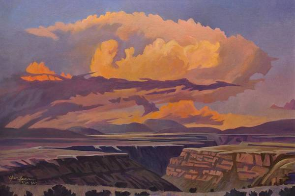 Painting - Taos Gorge - Pastel Sky by Art West