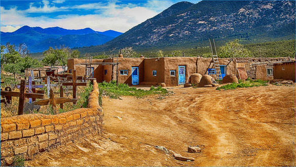 Photograph - Taos Graveyard by Wayne Wood