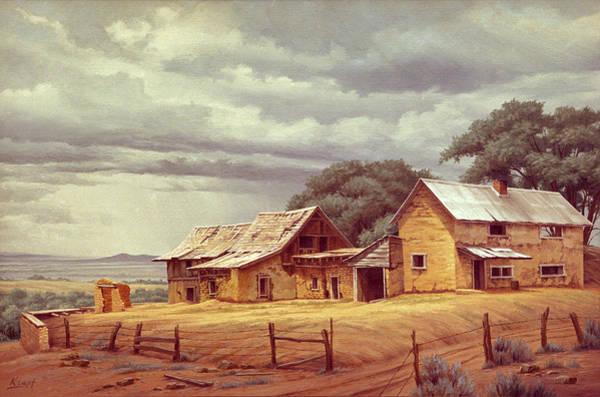 Ranch Wall Art - Painting - Taos Homestead by Paul Krapf