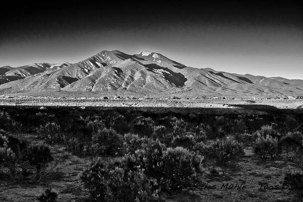 Photograph - Taos In Black And White X by Charles Muhle