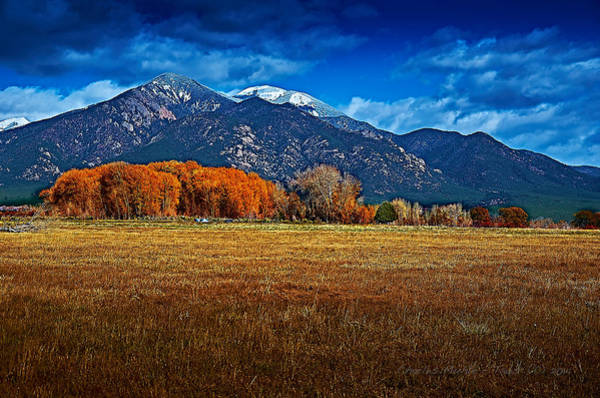 Photograph - Taos In The Fall by Charles Muhle