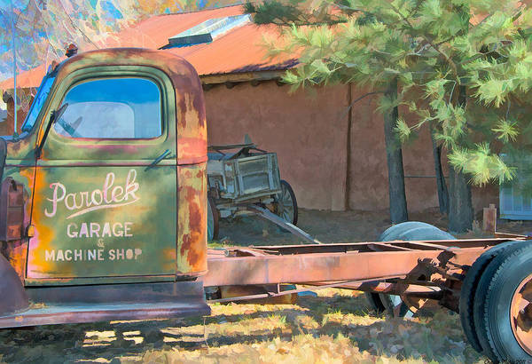 Photograph - Taos Pickups by Charles Muhle
