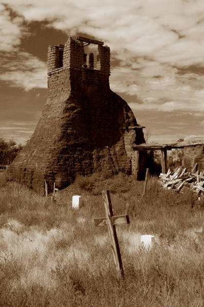 Photograph - Taos Pueblo Graveyard by Michael Kirk