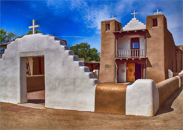 Photograph - Taos Pueblo by Wayne Wood