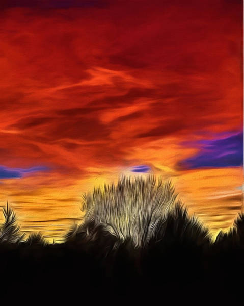 Painting - Taos Sunset Lx - Okeeffe by Charles Muhle