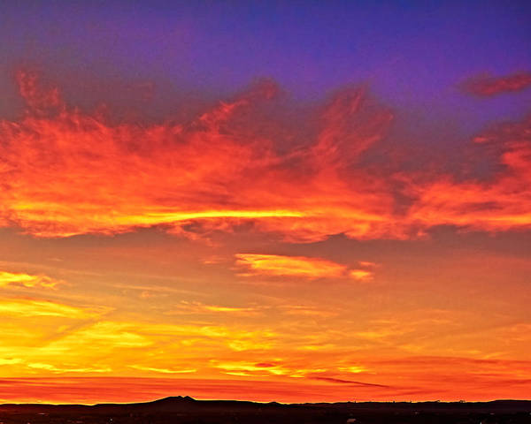 Photograph - Taos Sunset Xxxx by Charles Muhle