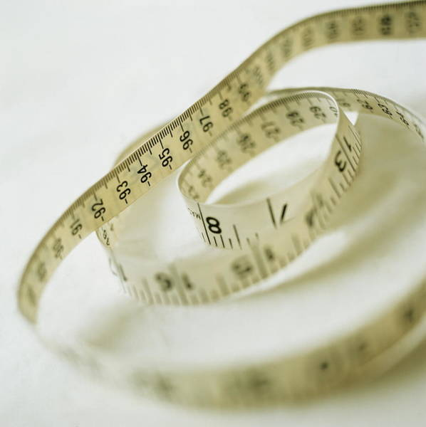 Anorexia Photograph - Tape Measure by John Heseltine/science Photo Library