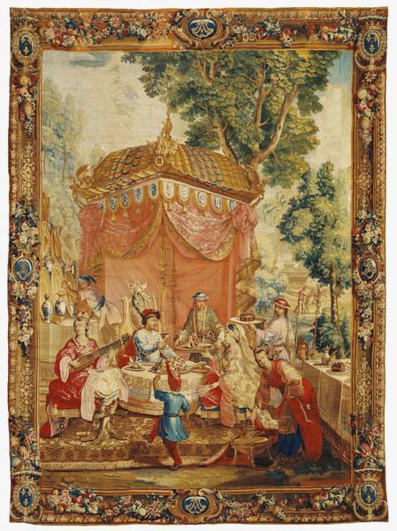 1715 Drawing - Tapestry La Collation, From Lhistoire De Lempereur De La by Litz Collection
