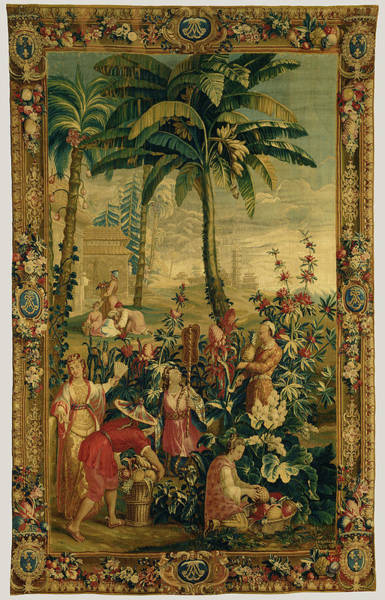 1715 Drawing - Tapestry La Récolte Des Ananas, From Lhistoire De by Litz Collection