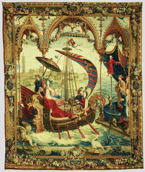1715 Drawing - Tapestry Lembarquement De Limpératrice, From Lhistoire De by Litz Collection