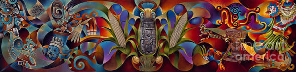 Painting - Tapestry Of Gods by Ricardo Chavez-Mendez