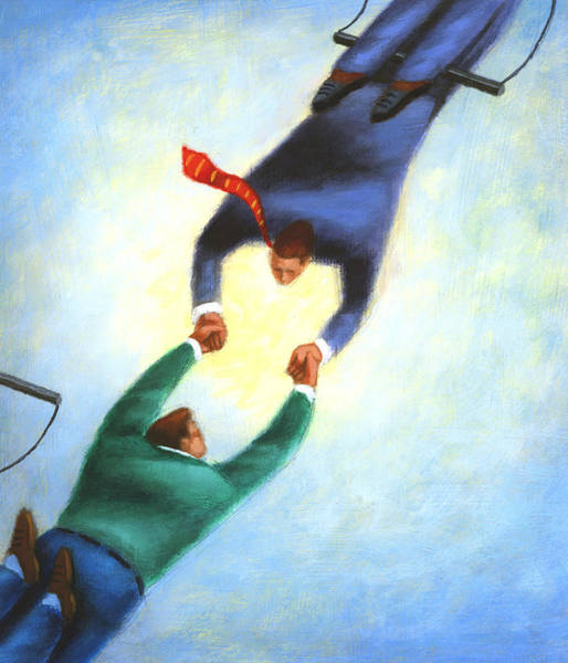 Trapeze Painting - Trapeze by Steve Dininno